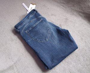 Jeans Hose Röhre Skinny H&M Blau Washed Push Up Gr. 29/34