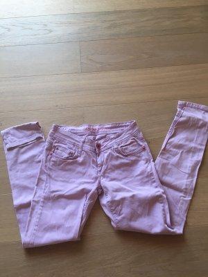 Jeans Hose rosa flieder stretch skinny Gr. 28