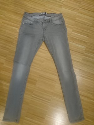 Only Skinny jeans grijs-lichtgrijs Gemengd weefsel