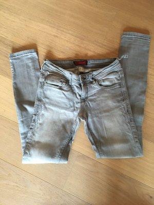 Jeans Hose Skinny grau stretchig Basic Gr. 36