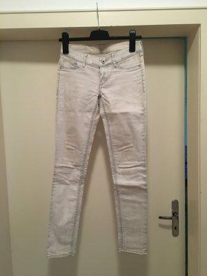 Jeans Hose Skinny Low Waist Wachs Blogger Trend Glitzer
