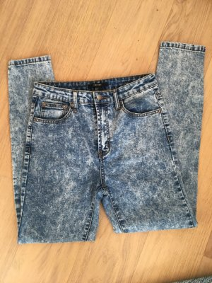 Jeans Hose Skinny stretch High Waist Batik Gr. 38