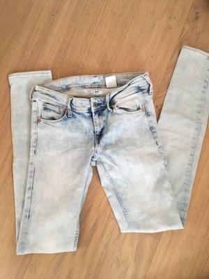 Jeans Hose Skinny stretchig hellblau Batik Gr. 28/34