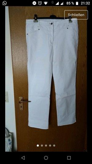 b.p.c. Bonprix Collection Pantalone elasticizzato bianco