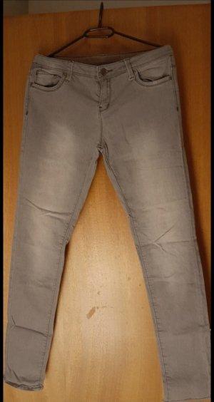 H&M Drainpipe Trousers grey