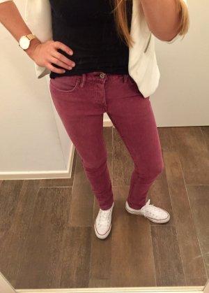 Jeans Hose stretch weinrot Röhrenhose wie neu H&M denim Slim Low Waist