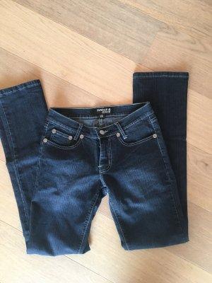 Jeans Hose stretchig gerades Bein blau Denim Gr. 25
