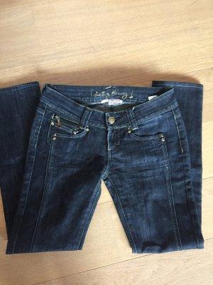 Jeans Hose stretchig Slim Fit dunkelblau Gr. 36