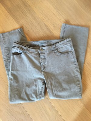 Yessica Jeans a gamba dritta grigio chiaro