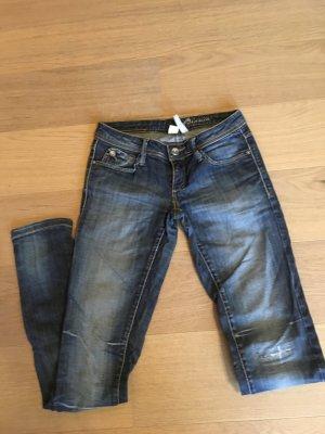 Jeans Hose used look Cut Outs blau skinny slim Mango TOP