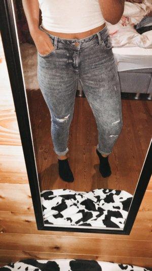 C&A Jeans stretch bleu acier
