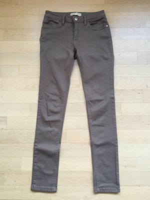 Jeans, Hose von Zara, Farbe khaki, grüngrau, Gr. 36