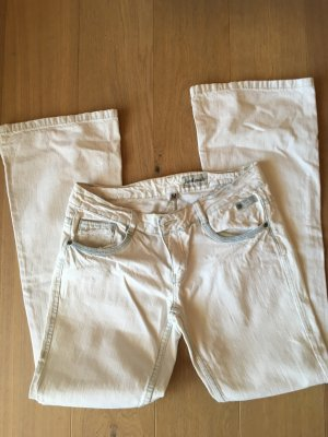 Jeans Hose weiß Bootcut Gr. M