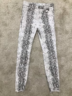 Zara Hoge taille jeans wit-zwart