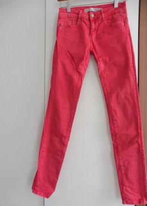 Zara Jeans rouge coton