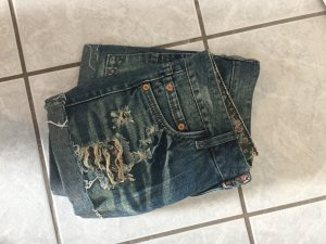 Jeans Hot Pants mit Muster ♥