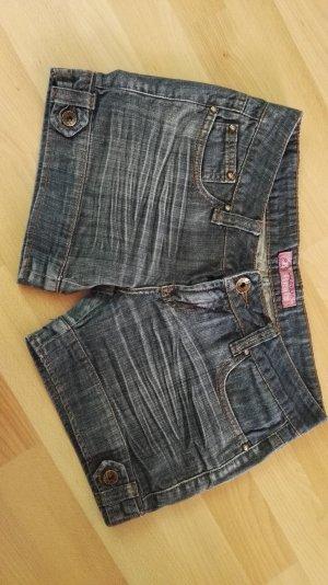 Reals Short en jean bleu foncé tissu mixte