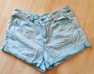 Jeans Hotpants Gr. 38 Türkis #378