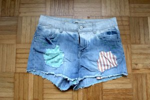 Denim Shorts azure-pink