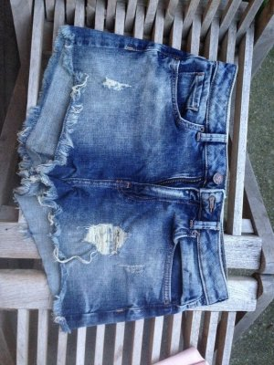 Jeans Hotpants used look Größe 36