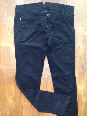 Jeans Hüft Hose schwarz it42 dt Gr 36