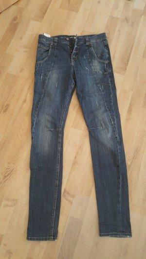 MAC Jeans Jeans boyfriend gris ardoise-bleu foncé