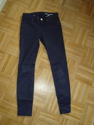 **Jeans im Lederlook, Darkblue , Slim Fit von Zara Women,  Gr.34**