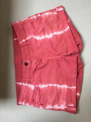 Pantalón corto de tela vaquera rojo claro