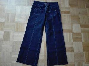 QS by s.Oliver Jeans flare bleu foncé