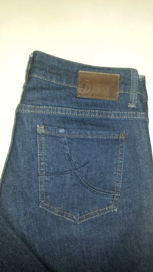 s.Oliver High Waist Jeans dark blue cotton