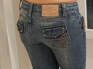 Jeans in Gr. 25/32, (34) Vintage Waschung!