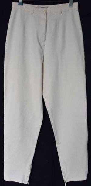 Marco Pecci Pantalon taille haute blanc cassé coton