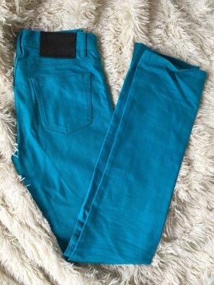 Jeans in Türkisblau -1 x getragen!