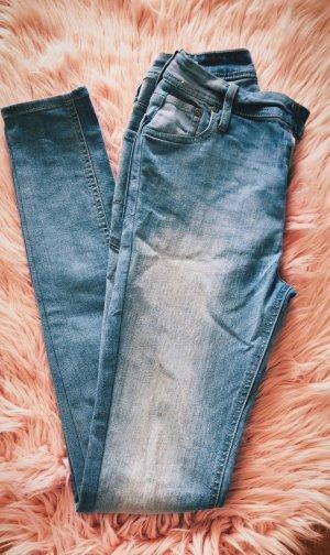 Jack & Jones Jeans taille haute bleuet coton