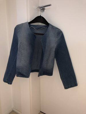 Denim Blazer steel blue cotton