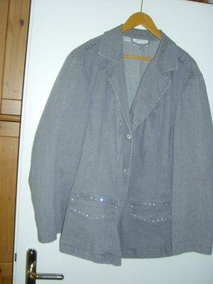 Blazer en jean gris coton