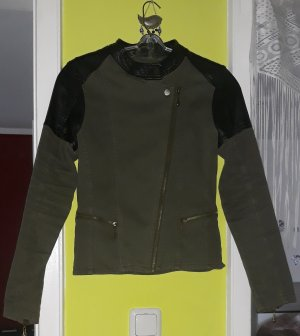 100% Fashion Spijkerjack olijfgroen