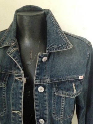 Jeans Jacke, dunkelblau, sehr cooler Schnitt. S Oliver.