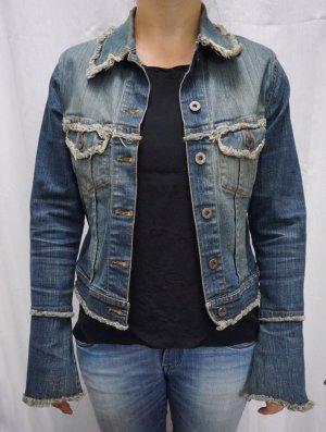 Jeans-Jacke Freesoul, Gr. M, used-Look, NP 149€