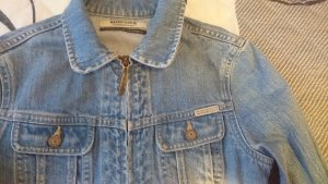 Jeans Jacke hellblau-weiß