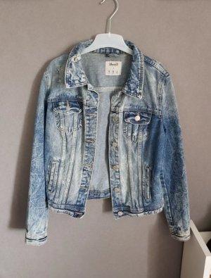 Jeans Jacke im Used Look