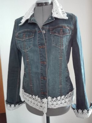 Jeans Jacke in blau Farbe,von s Oliver,mit Design-Muster