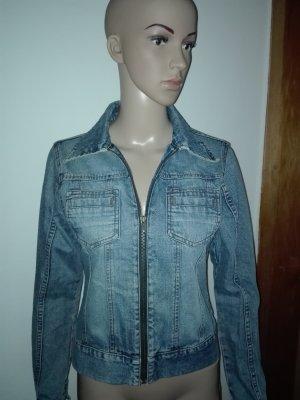 Jeans Jacke,in grau-blau Farbe,