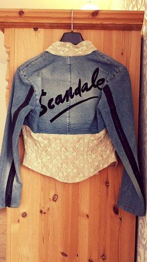 Jeans-Jacke in Korsagenoptik mit Spitze  Voyage Passion