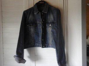 jeans Jacke in Used Optik