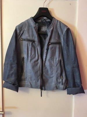 Jeans Jacke mit Leder Partien