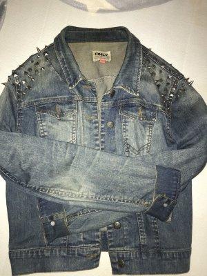 Jeans Jacke mit Niete