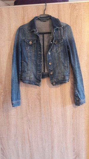 jeans jacke mit nieten