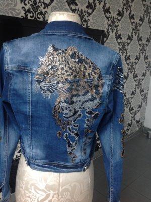 Jeans Jacke mit Stassen