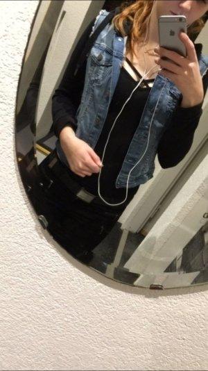Jeans Jacke mit Stoff Ärmeln